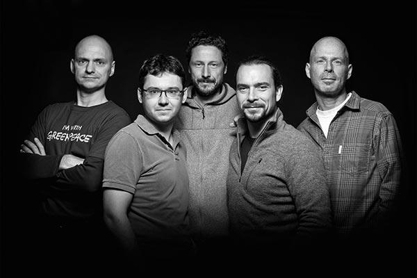 Ingo Arndt, David Hettich, Markus Mauthe, Bernd Römmelt und Florian Schulz